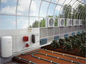 Üvegház fűtés