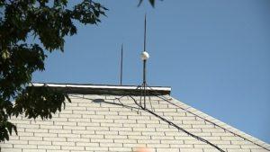 Villámhárító a tetőn